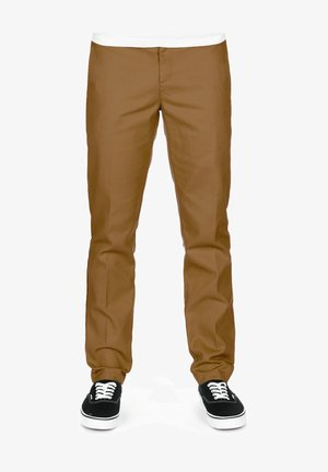 872 SLIM FIT WORK PANT - Chinos - brown duck