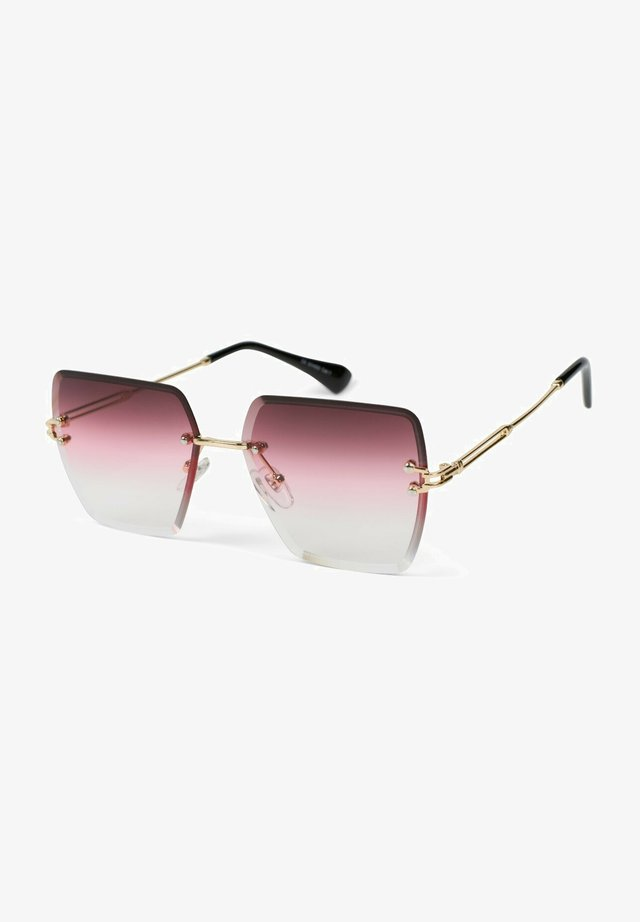 Sunglasses - gestell gold / glas pink verlauf