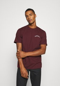 Carhartt WIP - UNIVERSITY SCRIPT  - Basic T-shirt - bordeaux/white - 0