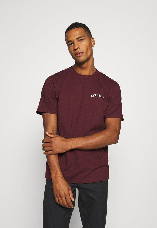 UNIVERSITY SCRIPT  - Camiseta básica - bordeaux/white