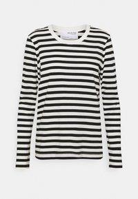 Selected Femme - SLFSTANDARD TEE  - Långärmad tröja - black/bright white - 3
