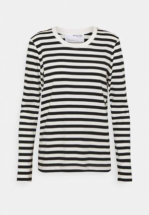 SLFSTANDARD TEE  - Top sdlouhým rukávem - black/bright white