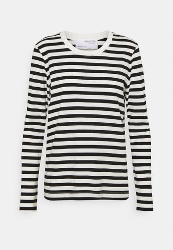 SLFSTANDARD TEE  - Long sleeved top - black/bright white