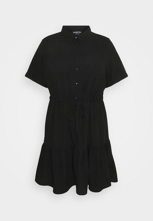 UTILITY SHIRT DRESS - Paitamekko - black