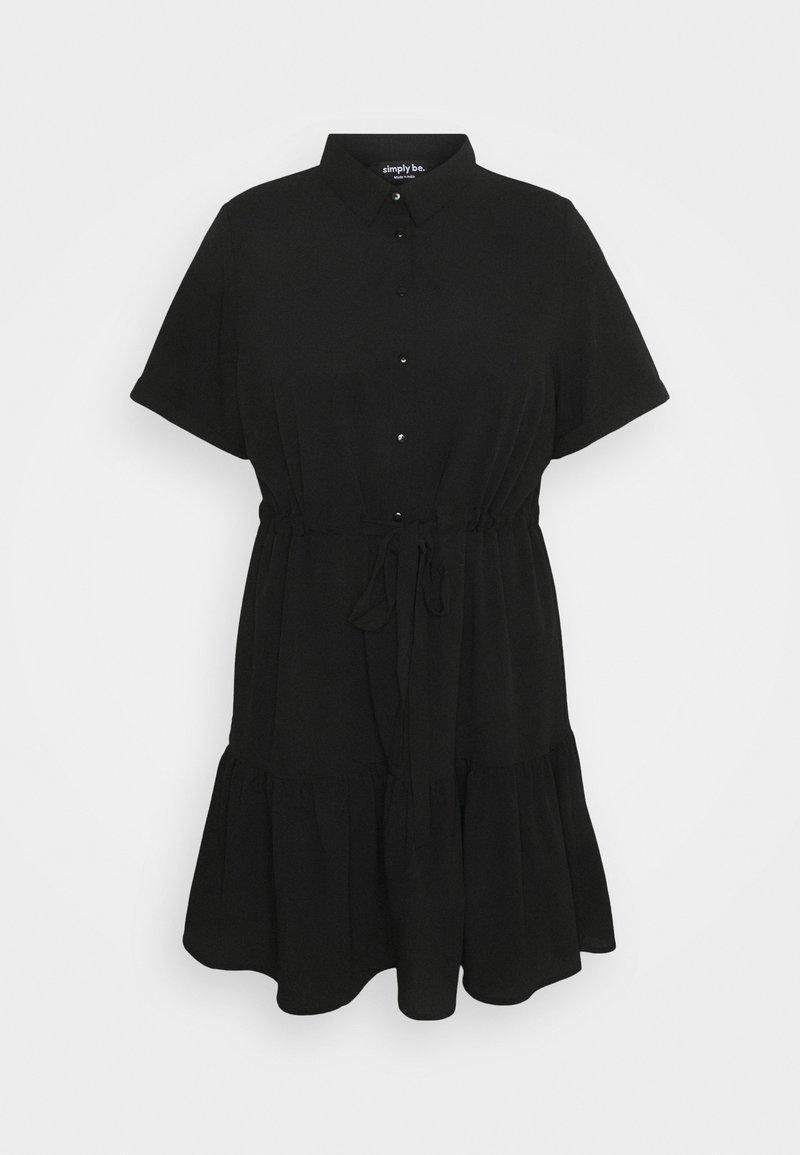 Simply Be - UTILITY SHIRT DRESS - Shirt dress - black