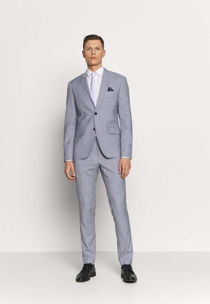 Lindbergh - CHECKED SUIT - Completo - lt grey check