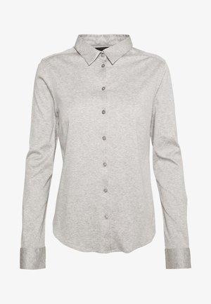 TINA - Button-down blouse - light grey melange