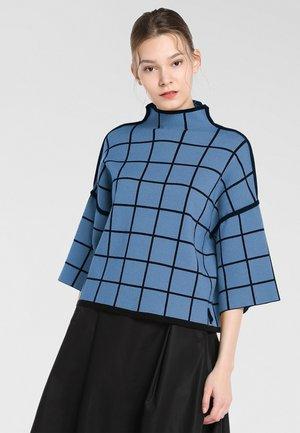 Pullover - jeansblau-schwarz