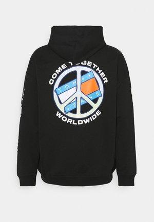 TOGETHER WORLD PEACE HOODIE UNISEX - Sweatshirt - black