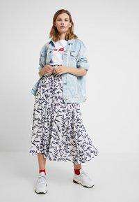 Selected Femme - SLFBREE ANKLE SKIRT - Maxi skirt - snow white - 1