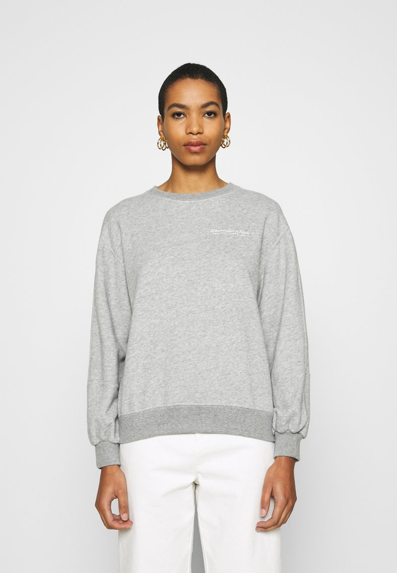 Abercrombie & Fitch - ITALICS SEAMED LOGO CREW - Sweatshirt - grey