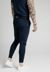 SIKSILK - EXPOSED TAPE JOGGER - Träningsbyxor - navy - 2