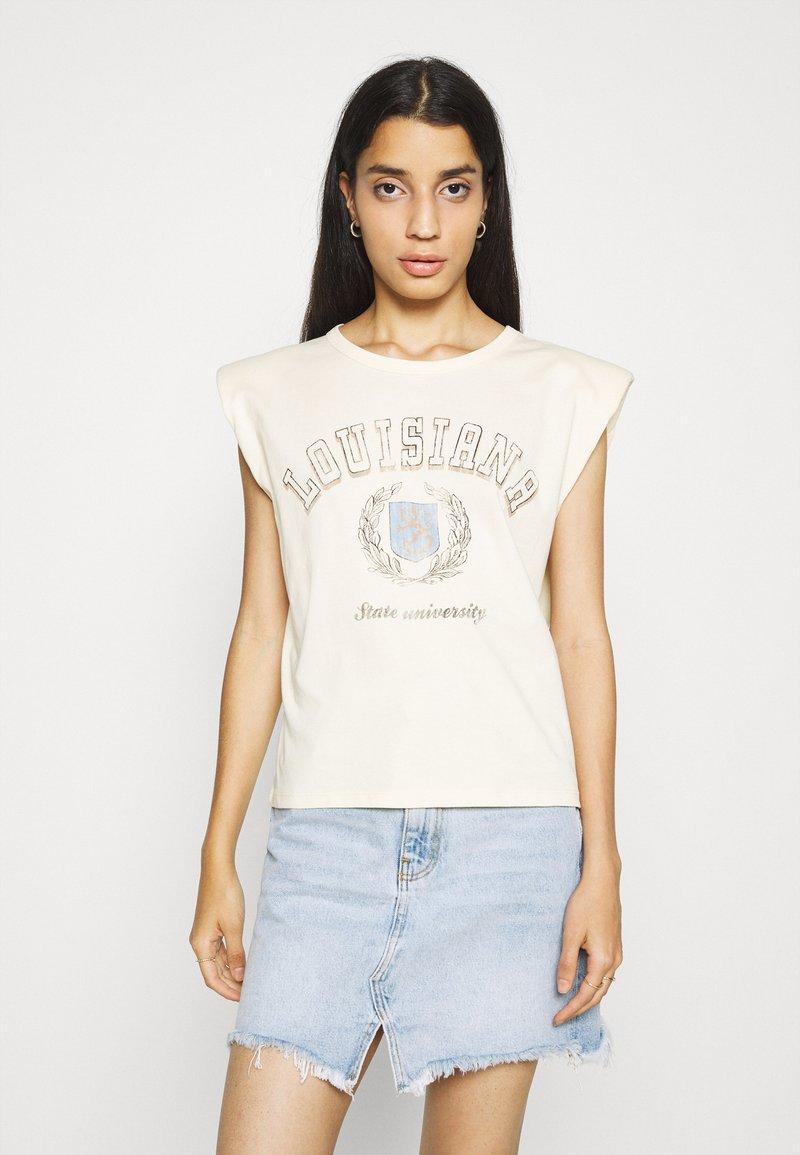 Gina Tricot - FRAN TANK - T-shirts med print - cloud