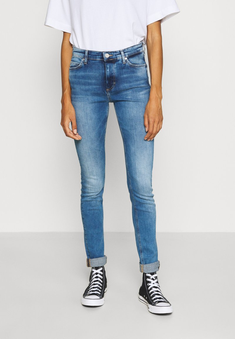 Marc O'Polo DENIM - KAJ HIGH RISE CROPPED - Jeans Skinny Fit - multi/mid blue used