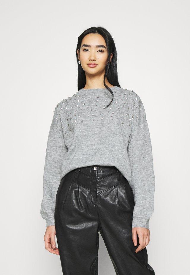 SCATTER GEM JUMPER - Jersey de punto - light grey