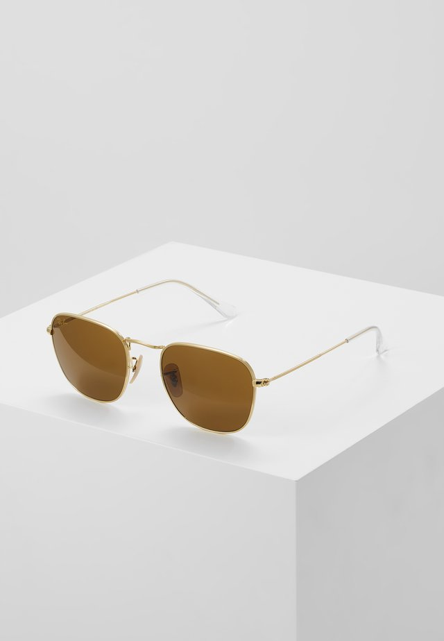 UNISEX SUNGLASSES - Solglasögon - gold-coloured/brown