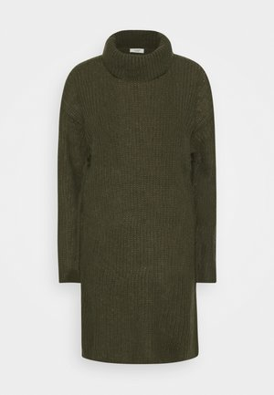 JDYDANILLA ROLL NECK DRESS  - Strikket kjole - deep depths