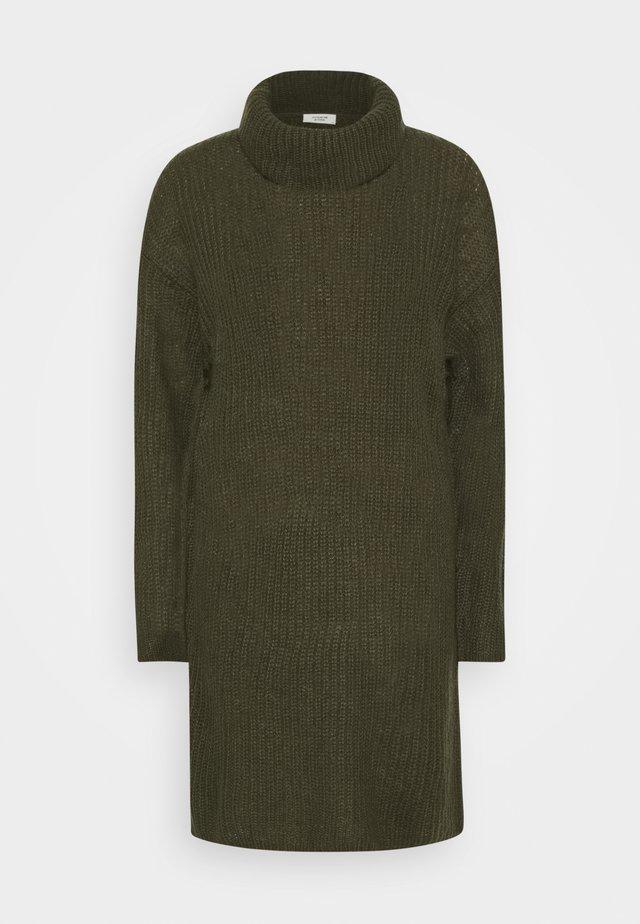 JDYDANILLA ROLL NECK DRESS  - Gebreide jurk - deep depths