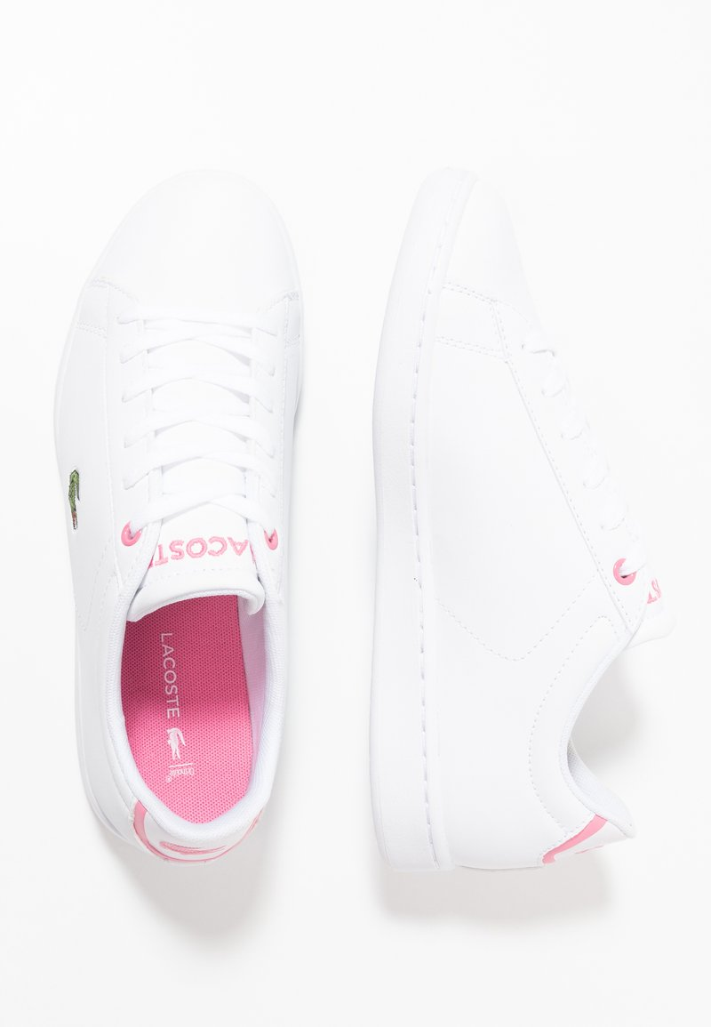 Lacoste - CARNABY EVO - Trainers - white/pink