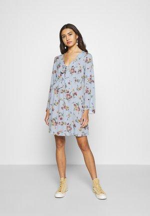 VILULU TIE DRESS - Day dress - ashley blue/winetasting