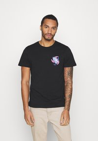 YOURTURN - UNISEX - Print T-shirt - black - 0