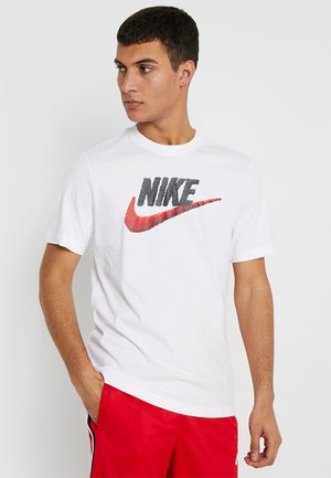 T-shirt con stampa - white/black/university red
