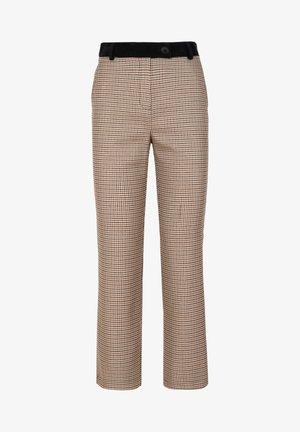 Trousers - brown checks