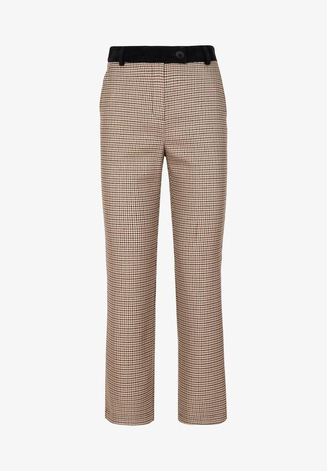 Pantaloni - brown checks