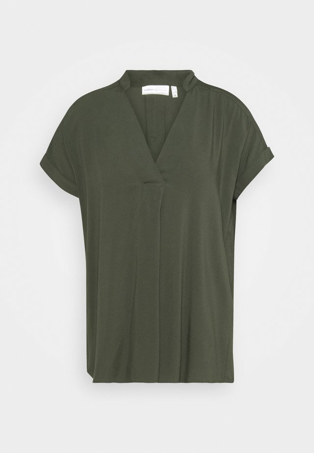 VIKSA  - T-shirt basic - bettle green