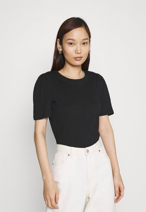 ONLELLA LIFE PUFF - Basic T-shirt - black/solid