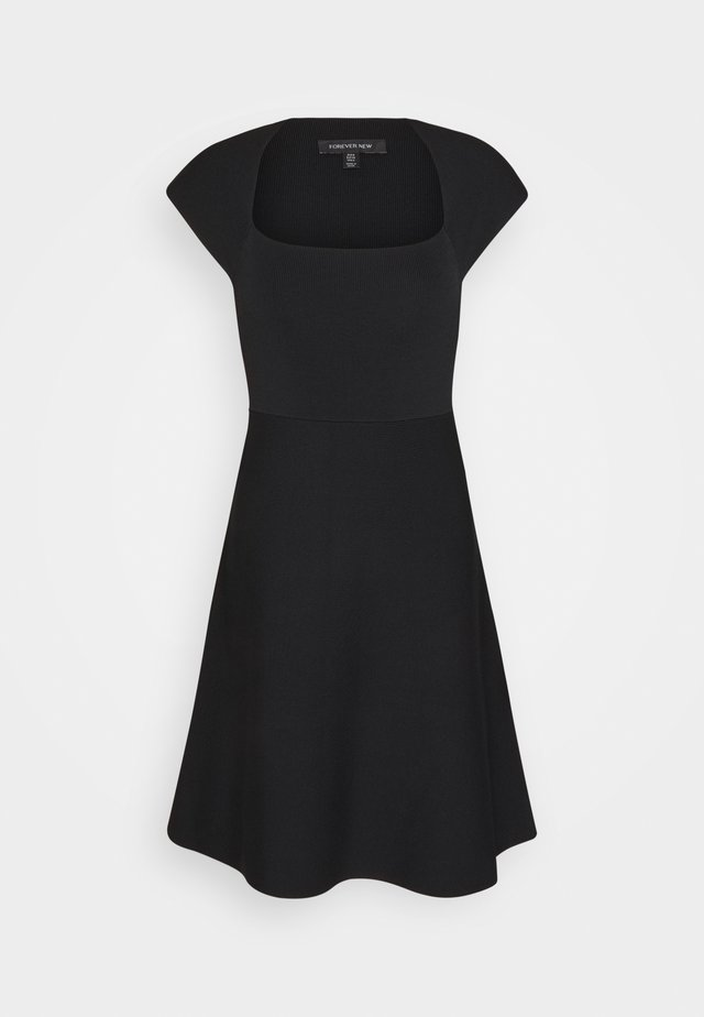 MORGANA - Strikket kjole - black