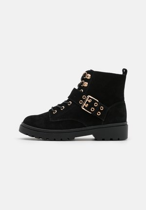 ORACLE BUCKLE LACE UP - Lace-up ankle boots - black
