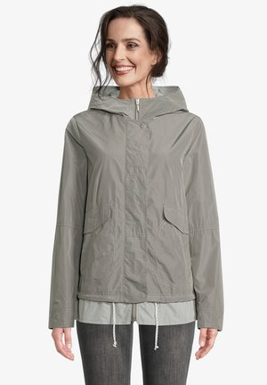 MIT KAPUZE - Waterproof jacket - sedona sage