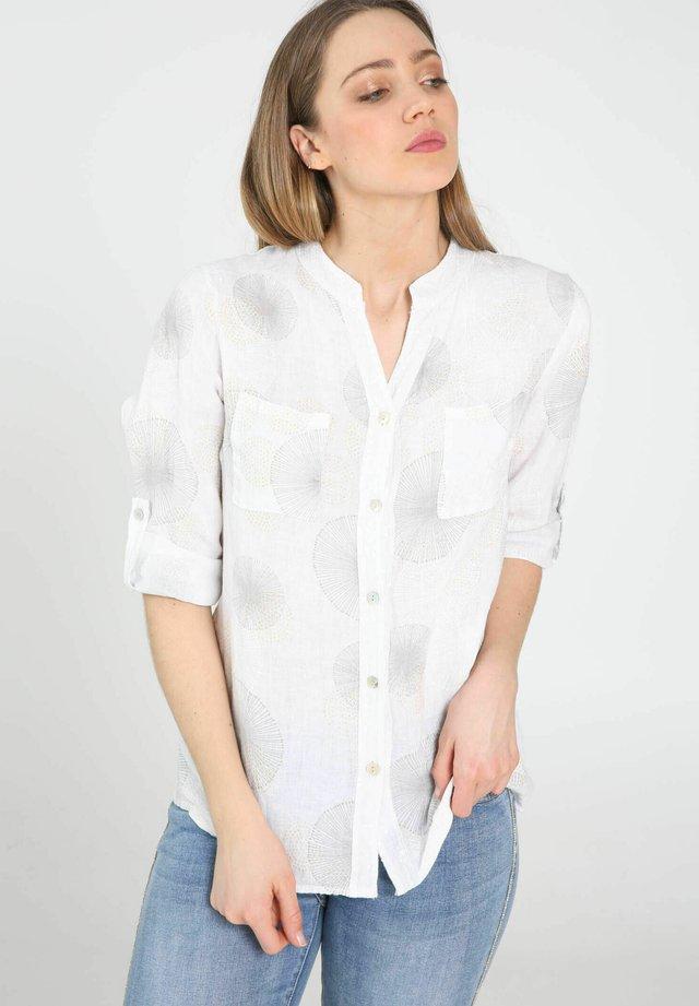 DENTELLE ET SEQUINS - Overhemdblouse - white