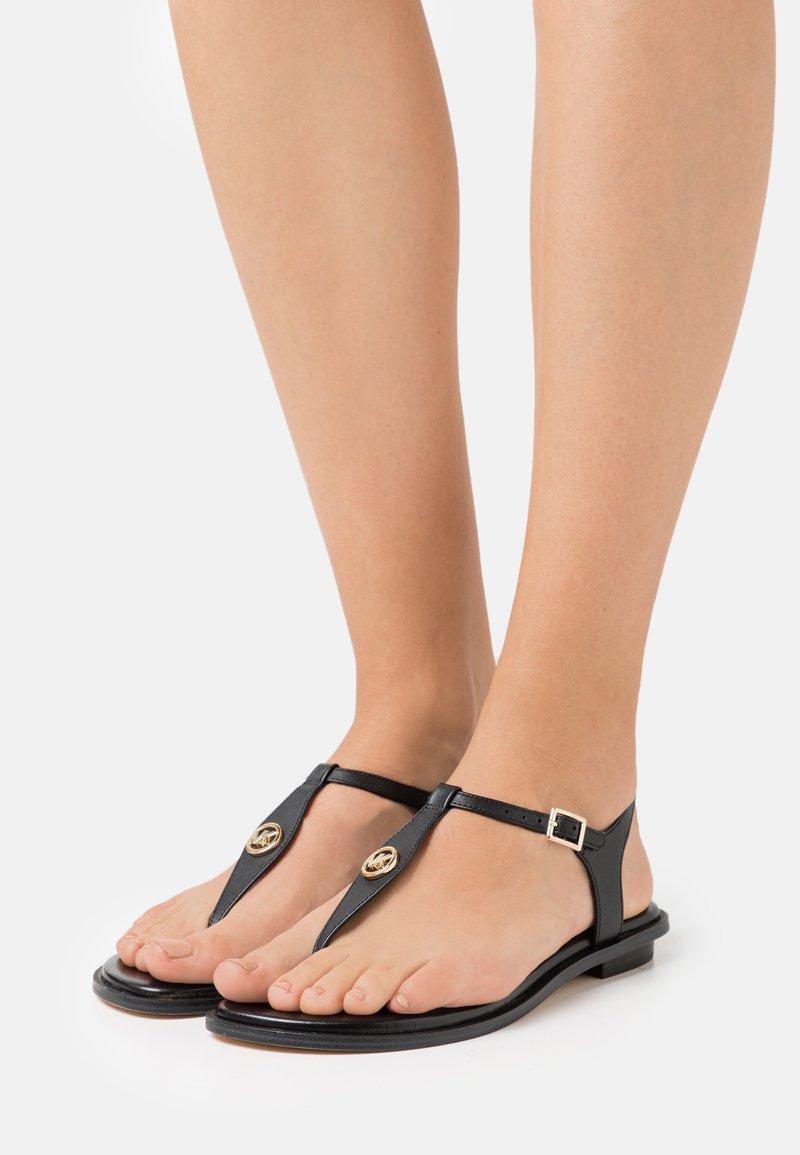 MICHAEL Michael Kors - MALLORY THONG - T-bar sandals - black
