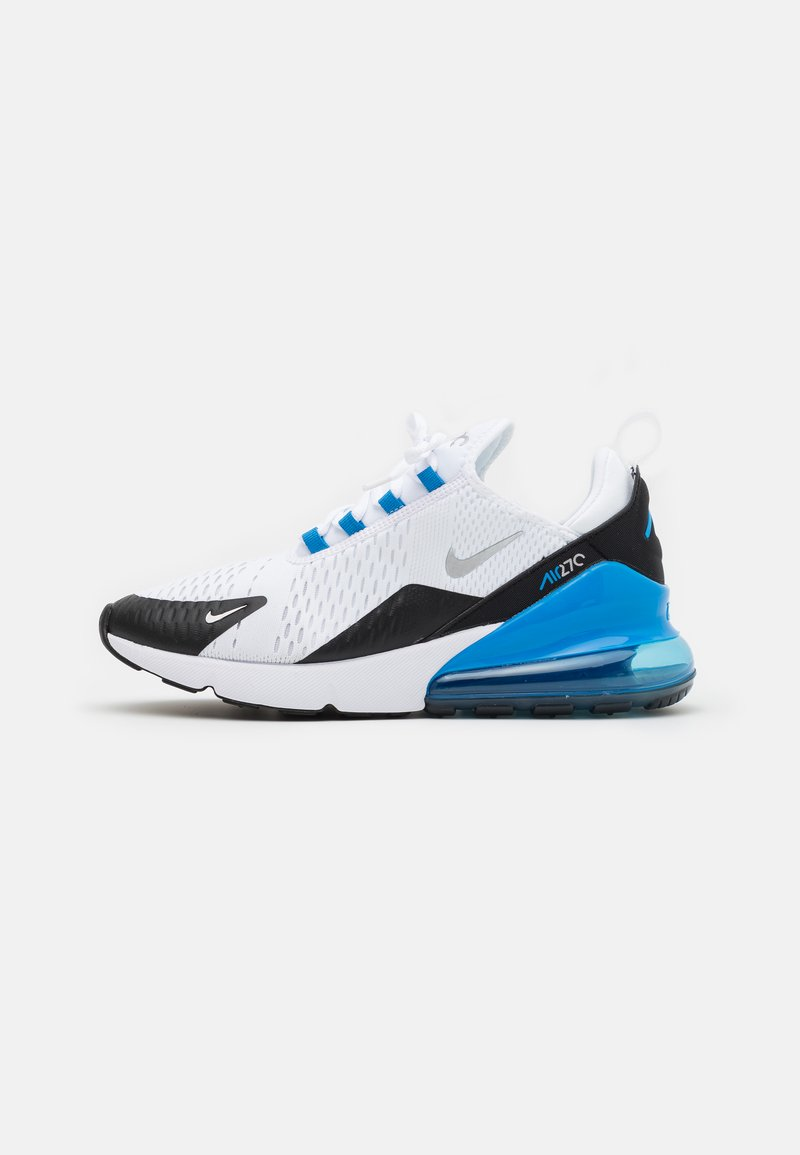 Nike Sportswear - AIR MAX 270 HU UNISEX - Sneakersy niskie - white/metallic silver/light photo blue/black