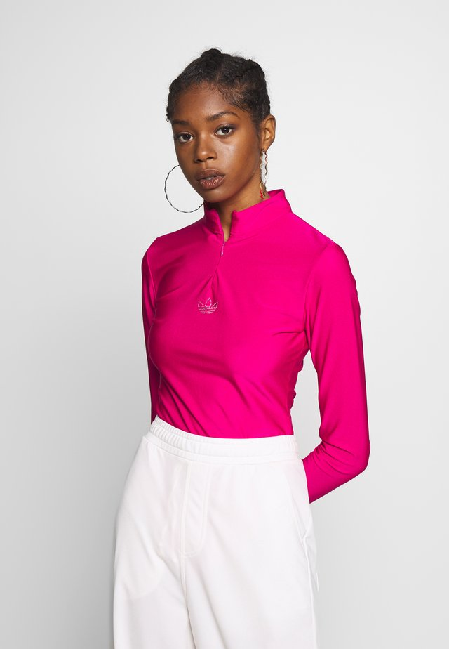 Long sleeved top - bold pink