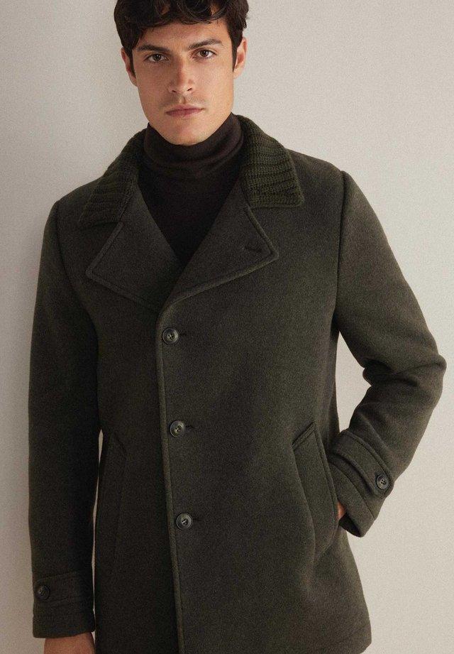 Winter coat - grün-army mel