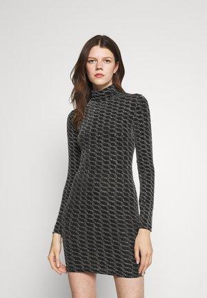 GLITTER DRESS - Jerseykjoler - black