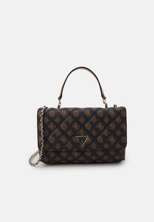 CESSILY CONVERTIBLE BODY FLAP - Handbag - mocha multi