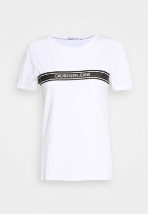 STRIPE SLIM TEE - T-shirt imprimé - bright white