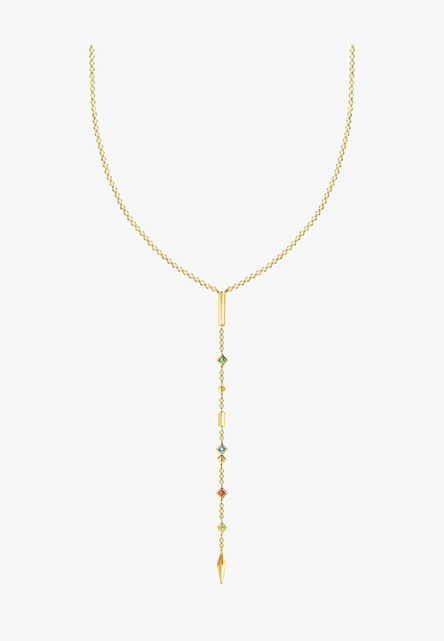 Kette  - Collier - gold-coloured
