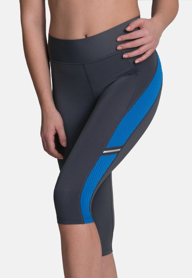 CAPRI  FITNESS - 3/4 sportbroek - atlantik  anthrazit