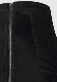 Even&Odd - CORDUROY HIGH WAISTED MINI BODYCON SKIRT - Mini skirt - black - 5
