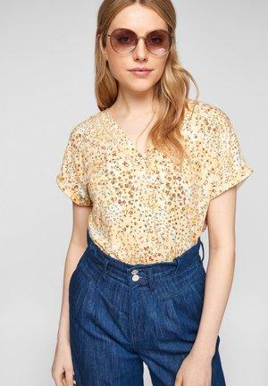 Print T-shirt - sunlight yellow aop