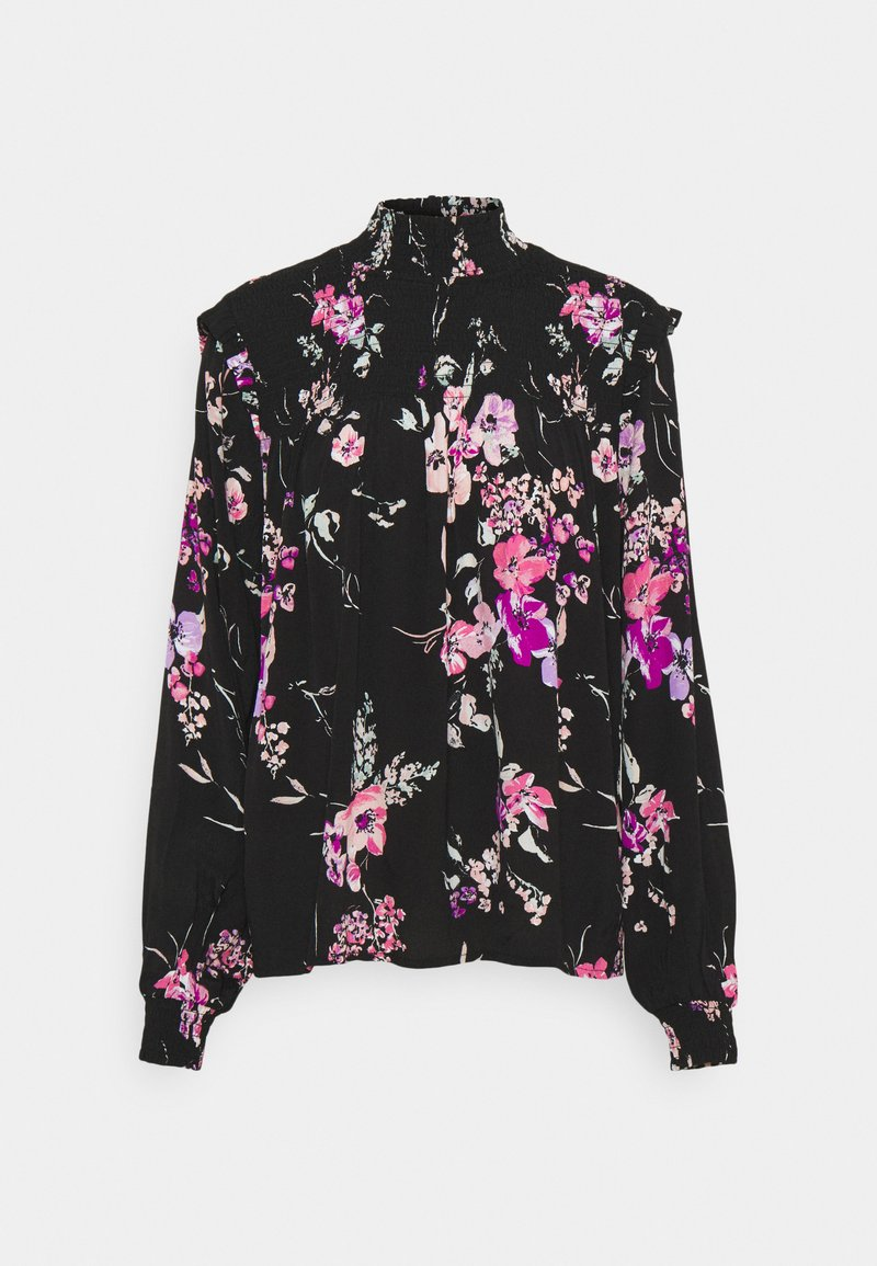 b.young - BYILKA BLOUSE - Long sleeved top - black mix