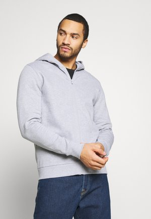ONSORGANIC REG  ZIP HOODIE  - Collegetakki - medium grey melange