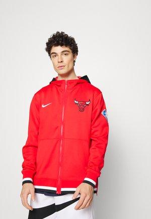 NBA CHICAGO BULLS SHOWTIME FULL ZIP HOODIE - Klubbkläder - university red/white/black/white
