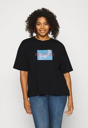 BE LOVED DROP SHOULDER - Print T-shirt - black