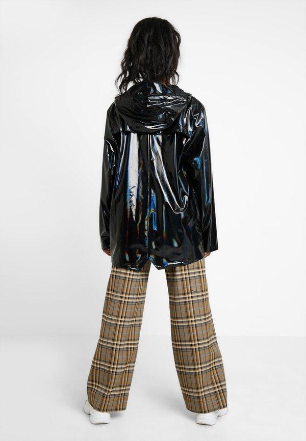 Rains UNISEX HOLOGRAPHIC JACKET - Kurtka przeciwdeszczowa - black/czarny Odzież Męska UVAN